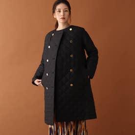 TRADITIONAL WEATHER ノーカラーキルティングコート (ブラック)