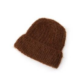 【RF mag./FUDGE12月号掲載】KARAKORAM ACCESSORIE(カラコラムアクセサリー) ウールニット帽 (ダークブラウン)