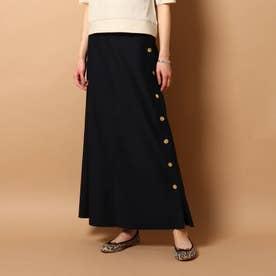 【Marisol7月号/GISELe4月号掲載】コットンモールスキンマキシスカート (ネイビー)