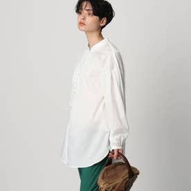 【スタイリスト亀恭子さんコラボレーションアイテム】ボタンチュニックシャツ (ホワイト)
