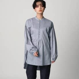 【スタイリスト亀恭子さんコラボレーションアイテム】ボタンチュニックシャツ (ライトブルー)
