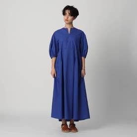 【スタイリスト亀恭子さんコラボレーションアイテム】ボリュームスリーブワンピース (ブルー)