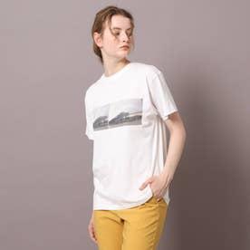 ロゴ&フォトプリントTシャツ (アイボリー)