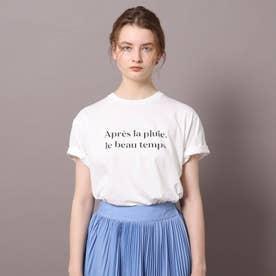 ロゴ&フォトプリントTシャツ (オフホワイト)