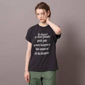 ロゴ&フォトプリントTシャツ (ダークグレー)