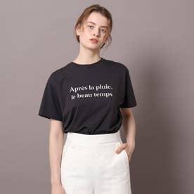 ロゴ&フォトプリントTシャツ (チャコールグレー)
