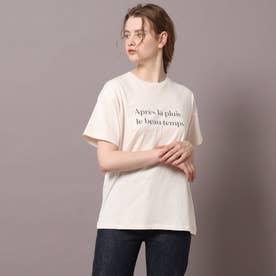 ロゴ&フォトプリントTシャツ (ピンク)