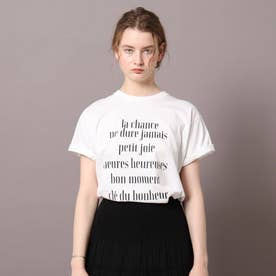 ロゴ&フォトプリントTシャツ (ホワイト)