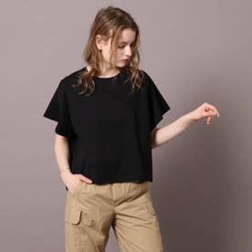 【2WAY】ウルティマコットン フレアTシャツ (ブラック)