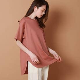 テールヘムビッグTシャツ (ピンク)