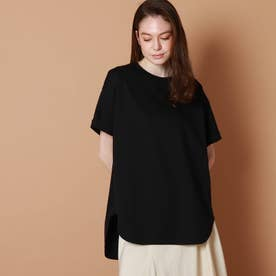 テールヘムビッグTシャツ (ブラック)