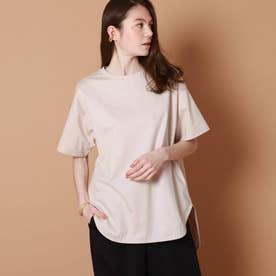 テールヘムビッグTシャツ (ベビーピンク)