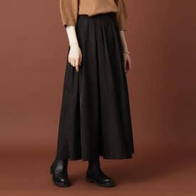 【STORY9月号掲載】イージーウエストタフタボリュームスカート (ブラック)