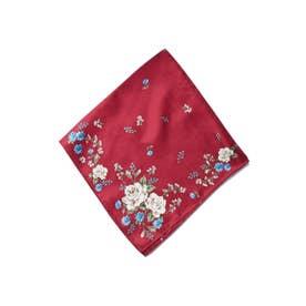 花柄スカーフ (レッド)