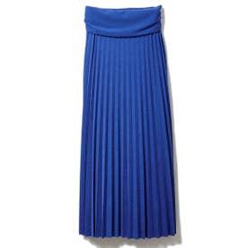 カットプリーツスカート (ブルー)