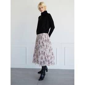 Winterフラワープリントスカート (ピンク)