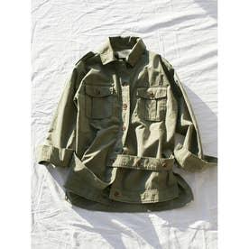 グラインダーワークシャツジャケット (カーキ)