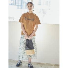 BomullプリントTシャツ (キャメル)