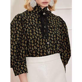 Pony Up Puff Sleeve Blouse (BLACK)