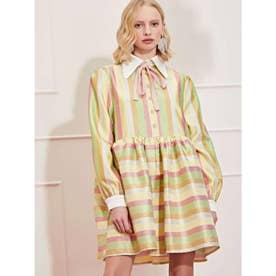 Rainbow Rays Mini Smock Dress (MULTI)