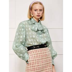 Daisy Lawn Retro Bow Blouse (GREEN)