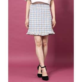Weave Away Tweed Mini Skirt (BLUE)