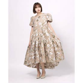 Center Stage Oversized Midi Dress (KHAKI)
