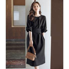 コクーンワンピースドレス (ブラック)