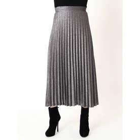 ラメプリーツスカート (BLACK)