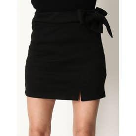 インナー付サイドリボンスカート (BLACK)