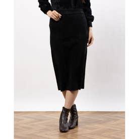 シャギーニットスカート (BLACK)