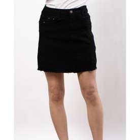 ミニスカート風ショートパンツ (BLACK)
