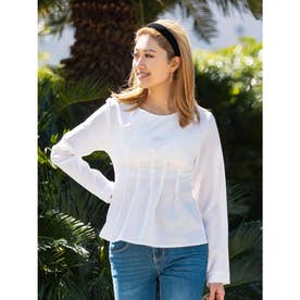 ウエストタック入りシャツ (WHITE)