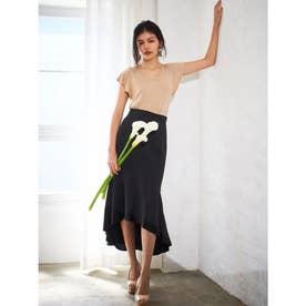 マーメイドテールスカート (BLACK)