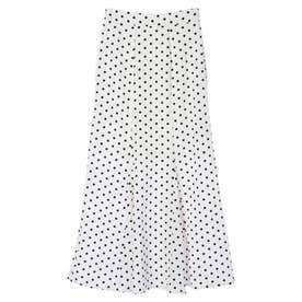 ドットマーメイドスカート (WHITE)