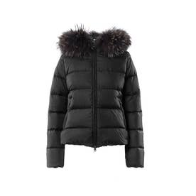 ADHARADUE gray fur-finracoon / アダラドゥエ (BLACK)