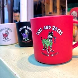DUST AND ROCKS × Yutaka Nojima Bamboo Mug -Dog Race- (RED)