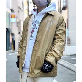 DUST AND ROCKS × Yutaka Nojima Coach Jacket -Dog Race- (BEG)