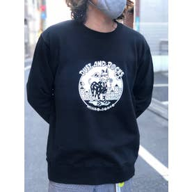 DUST AND ROCKS × Yutaka Nojima Sweat Shirt -Dog Race- (BLK)