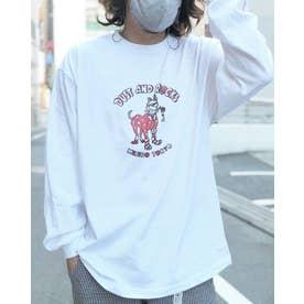 DUST AND ROCKS × Yutaka Nojima Long Sleeve T-shirts -Dog Race- (RED)