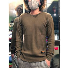 DAR Heavy Ounce Waffle Long Sleeve T-shirts (KHA)