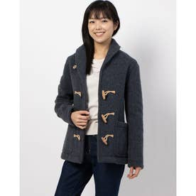 Women's【LONDON TRADITION】 Shaggy Wool Short Duffle Coat (GRY)