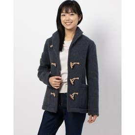 Women's【LONDON TRADITION】 Shaggy Wool Short Duffle Coat (GRY)