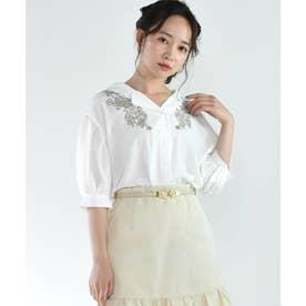刺繍開襟SH (ホワイト)
