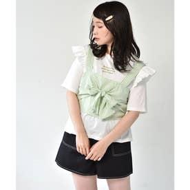ギンガムビスチェ+Teeセット (グリーン)