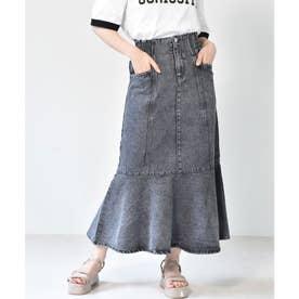 切替マーメイドスカート (ブラック)