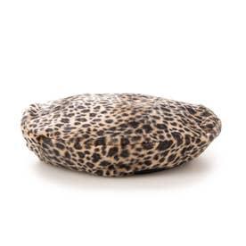 ベロアベレー帽 (Leopard)
