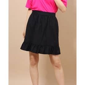 ギンガムチェック台形スカート (ブラック)