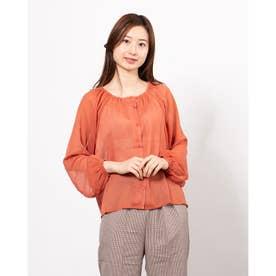 楊柳袖ボリュームブラウス (Orange)