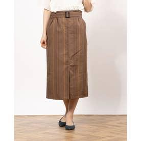 TRストライプベルト付スカート (Brown)